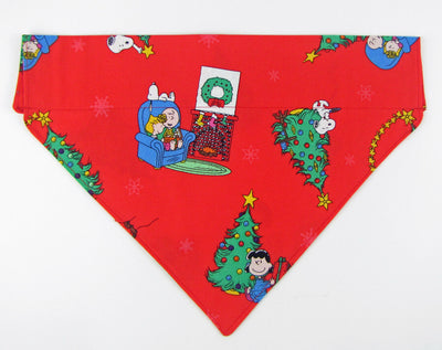 Peanuts Christmas Dog Bandana Over the Collar dog bandana  Dog collar bandana - Furrypetbeds