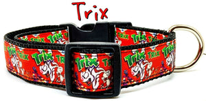 "Trix dog collar, handmade, adjustable, buckle collar, 1"" wide, leash - Furrypetbeds"
