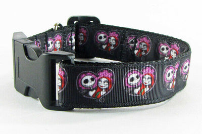 Horror dog collar handmade 12.00 all sizes adjustable buckle collar 1