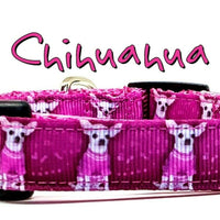 "Chihuahua dog collar handmade adjustable buckle collar 5/8"" wide or leash - Furrypetbeds"
