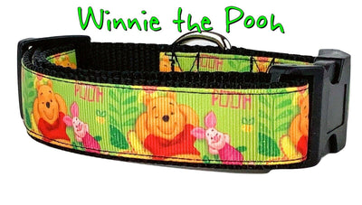 Winnie The Pooh dog collar handmade adjustable buckle collar 1