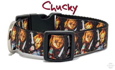 Chucky dog collar handmade adjustable buckle collar 1