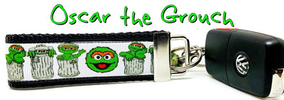 Oscar The Grouch Key Fob Wristlet Keychain 1 1/4