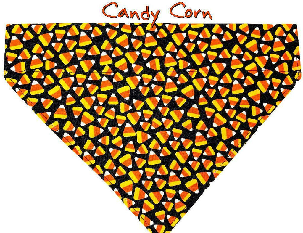 Candy Corn Halloween Dog Bandana Over the Collar dog bandana Dog collar - Furrypetbeds