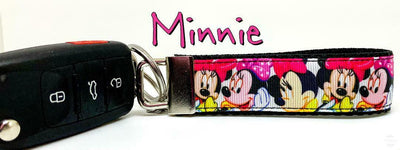 Minnie Mouse Key Fob Wristlet Keychain 1