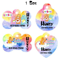 Pet ID Tag Care Bears Personalized Custom Double Sided Pet Tag w/name & number - Furrypetbeds