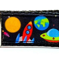 "Space Key Fob Wristlet Keychain 1""wide Zipper pull Camera strap handmade - Furrypetbeds"