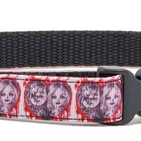 "Chuck & Bride Dog collar handmade adjustable buckle collar 5/8""wide or leash - Furrypetbeds"
