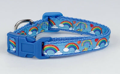 Rainbows cat & small dog collar 1/2