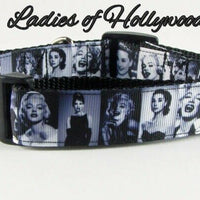 "Ladies of Hollywood dog collar Handmade adjustable buckle collar 1""wide or leash - Furrypetbeds"
