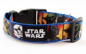 "Star Wars dog collar handmade adjustable buckle collar 1"" wide or leash movie - Furrypetbeds"