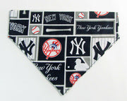 NY Yankees Dog Bandana Over the Collar dog bandana baseball  Dog collar bandana - Furrypetbeds