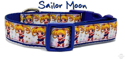Sailor Moon dog collar, handmade, adjustable, buckle collar,1