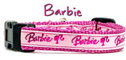 "Barbie cat or small dog collar 1/2""wide adjustable handmade or leash"