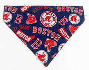 Boston Red Sox Dog Bandana Over the Collar dog bandana Dog collar bandana - Furrypetbeds