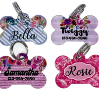Pet ID Tag Camo Personalized Custom Double Sided Pet Tag with name & number - Furrypetbeds