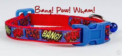 Super Hero cat & small dog collar 1/2