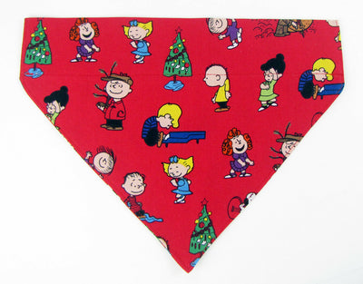 Dog Bandana Over the Collar dog bandana Peanuts Christmas Dog collar bandana - Furrypetbeds