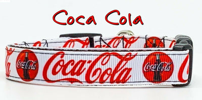 Coca Cola Dog collar handmade adjustable buckle collar 5/8