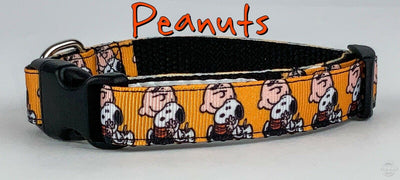 Peanuts dog collar handmade adjustable buckle collar 5/8