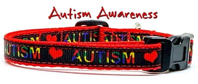 Autism cat or small dog collar 1/2