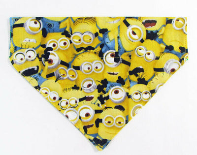 Minions Dog Bandana, Over the Collar dog bandana, Dog collar bandana, puppy - Furrypetbeds