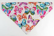 Butterfly Dog Bandana, Over the Collar dog bandana, Dog collar bandana, puppy - Furrypetbeds