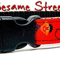 "Sesame Street dog collar handmade adjustable buckle collar 5/8""wide leash fabric - Furrypetbeds"