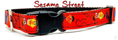 Sesame Street dog collar handmade adjustable buckle collar 5/8