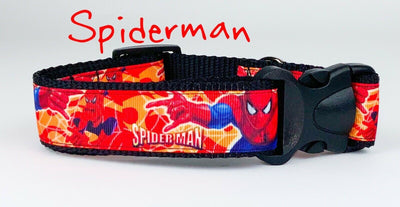 Spider-Man dog collar handmade adjustable buckle collar 1
