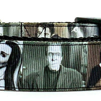 "The Munsters dog collar handmade adjustable buckle 1"" or 5/8"" wide or leash TV"
