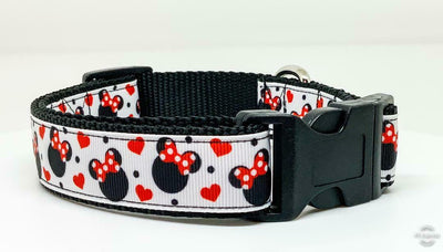 Minnie Mouse dog collar Disney handmade adjustable buckle 1