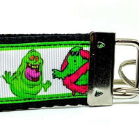"Ghostbusters Key Fob Wristlet Keychain 1 1/4""wide Zipper pull Camera strap - Furrypetbeds"