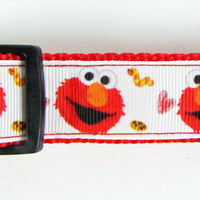 "Elmo Sesame Street dog collar handmade adjustable buckle collar 1""wide or leash - Furrypetbeds"