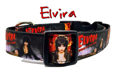 Elvira dog collar handmade adjustable buckle collar 1
