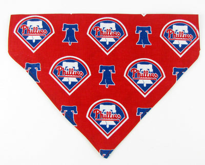 Phillies Dog Bandana Over the Collar dog bandana Dog collar bandana puppy - Furrypetbeds