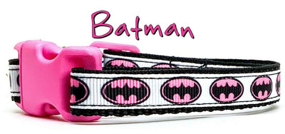 Batman cat or small dog collar 1/2