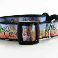 "Wizard of Oz dog collar handmade adjustable buckle 1"" or 5/8"" wide or leash - Furrypetbeds"
