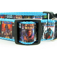 "Star Wars, dog collar, handmade, adjustable buckle collar, 1"" wide, leash - Furrypetbeds"