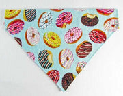 Donuts Dog Bandana, Over the Collar dog bandana, Dog collar bandana, puppy - Furrypetbeds
