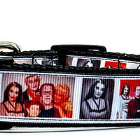 "The Munsters dog collar handmade adjustable buckle 1"" or 5/8"" wide or leash TV - Furrypetbeds"