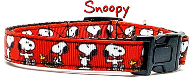 Snoopy dog collar handmade adjustable buckle collar 5/8