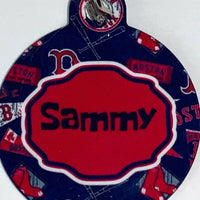 Pet ID Tag New England Patriots NFL Personalized Custom Double Sided Pet Tag - Furrypetbeds
