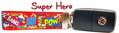 Super Hero Key Fob Wristlet Keychain 1