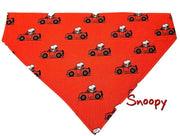 Snoopy Dog Bandana Over the Collar dog bandana Dog collar bandana - Furrypetbeds