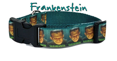 Frankenstein Dog collar Handmade adjustable buckle collar, 1