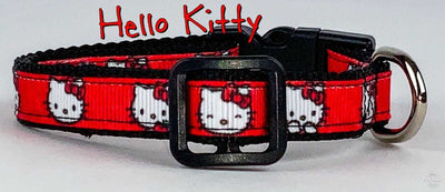 Hello Kitty cat or small dog collar 1/2