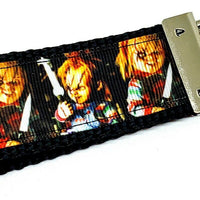 "Chucky Key Fob Wristlet Keychain 1 1/4""wide Zipper pull Camera strap - Furrypetbeds"