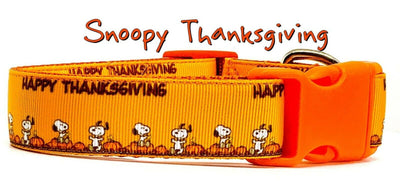 Snoopy Thanksgiving dog collar handmade adjustable buckle collar 1