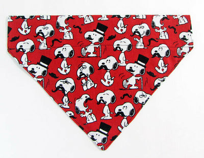 Snoopy Dog Bandana, Over the Collar dog bandana, Dog collar bandana, puppy - Furrypetbeds